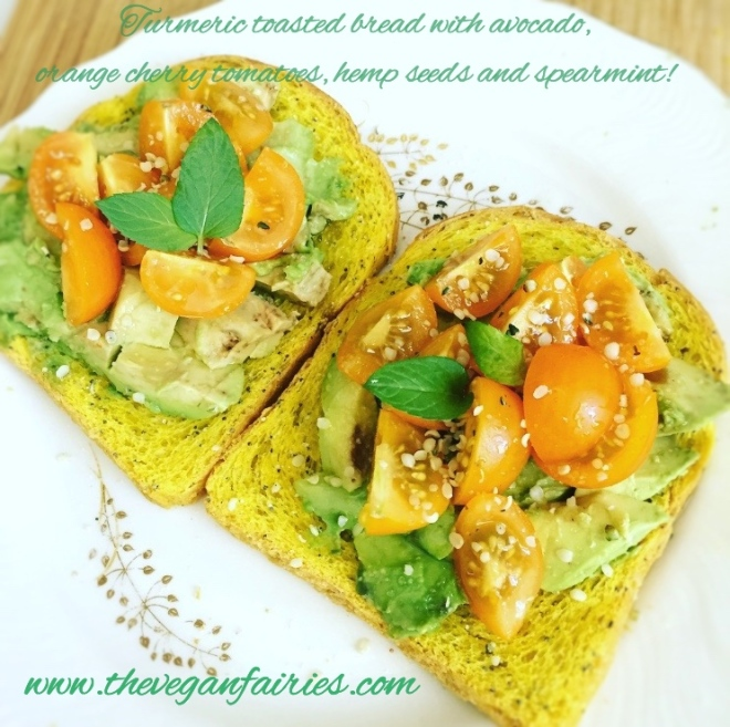 turmeric bread & avocado